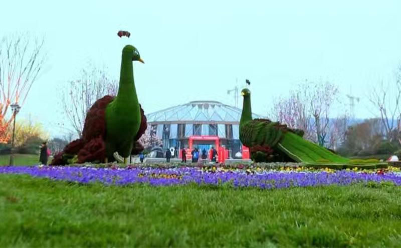 南京绿雕扮靓古都