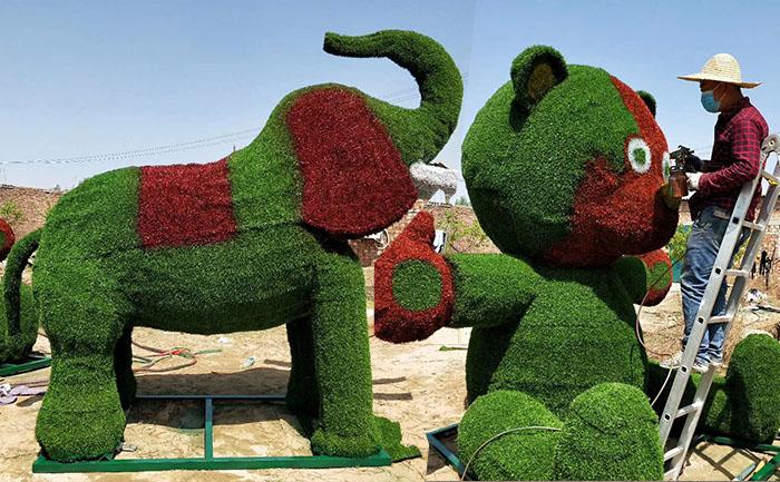 安徽仿真绿雕动物制作