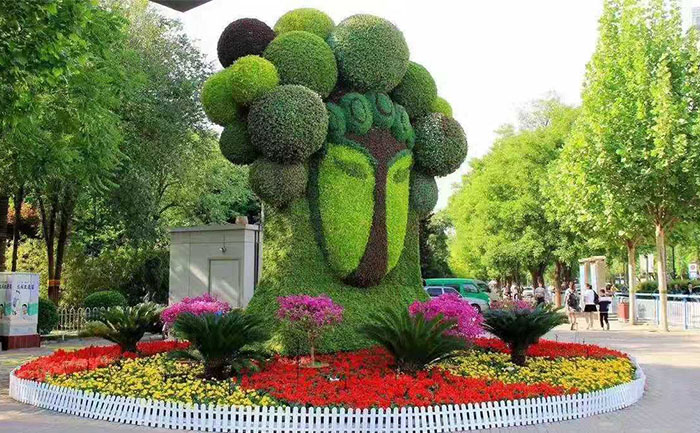 特色五色草造型绿雕在城市、园林造景中的应用和意义