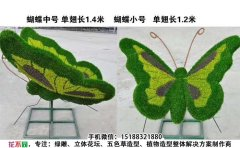 动物仿真绿雕蝴蝶造型